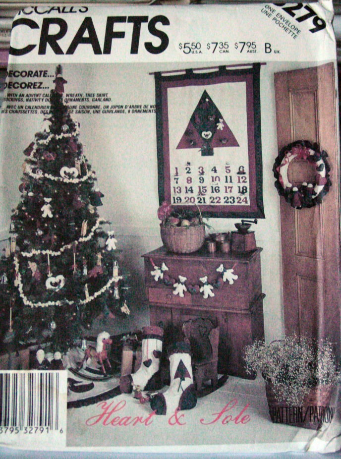 Primary image for Pattern 3279 Christmas Tree Skirt, Advent Calender & Decorations