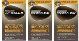3 BOXES - JUST FOR MEN CONTROLGX GREY REDUCING 2-IN-1 SHAMPOO AND CONDIT... - $34.99