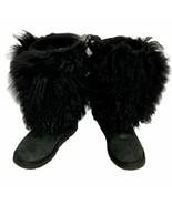 Ugg Australia women's Mongolian Hair Short Cuff Boots Suede Sheepskin si... - $98.89