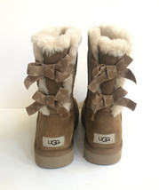 Ugg Women Bailey Bow Swirl Chestnut Water Resistant Boot Us 9 / Eu 40 / Uk 7 - $139.32