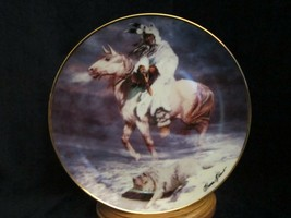 Spirit Of The Winter Wind Collector Plate Hermon Adams Native Western Heritage - $9.99