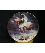SPIRIT OF THE WINTER WIND collector plate HERMON ADAMS Native WESTERN HE... - $9.99