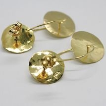 18K YELLOW GOLD FINELY WORKED AND HAMMERED PENDANT DOUBLE DISC & CIRCLE EARRINGS image 4