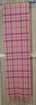 "FRANGI Soft Virgin Wool Check Scarf 70"" Woolmark Plaid Fucsia Pink Ivory... - ₹1,656.31 INR"