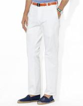 NWT Ralph Lauren Mens' 34Wx32L 100% Cotton Solid White Slacks Pants - $39.55