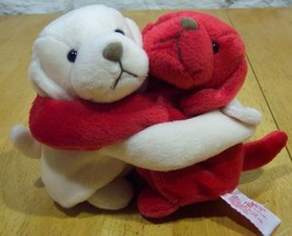 "Russ Red & White Hugging Puppy Dogs 5"" Stuffed Animal - $15.35"