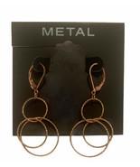 Kohl's Metal Gold Circle Earrings Drop - $14.95