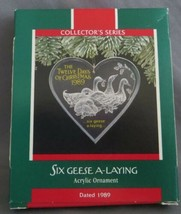 Hallmark Twelve Days of Christmas 1989 #6 in Series with Box Six Geese A... - $12.50