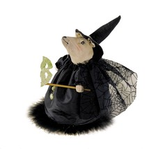 New  Joe Spencer Cordelia Witch Mouse with Mask 8 Inch Fabric Doll Hallo... - $29.65