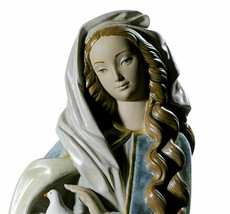 Lladro 01013044 Madonna With Dove Blue / Golden Limited Edition New - $1,485.00