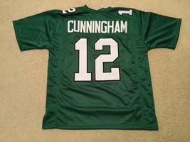 UNSIGNED CUSTOM Sewn Stitched Randall Cunningham Green Jersey - M, L, XL... - $33.99