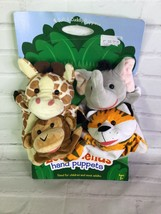 Melissa and Doug Zoo Jungle Friends Hand Puppets Giraffe Monkey Elephant Tiger - $24.74