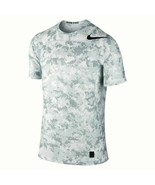 Nike Pro Hypercool Fitted Training Shirt White Gray Digital Camo 3XL  - $37.99