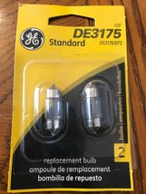 (2) New GE DE3175 Miniature Lamp Bulb 10w 12 volt T3-1/4 Standard Dome - $8.90