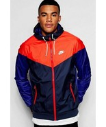 Nike SPORTSWEAR WINDRUNNER JACKET FZ Men's sz:XXL OBSIDIAN / UNVS RED 72... - $99.99