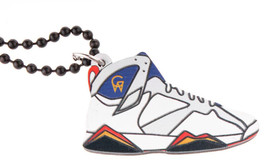 Good Wood NYC Olympic 7 Sneaker Necklace Wht/Red/Blu VII Dream Team Barcelona image 1