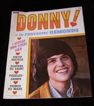 Donny Osmond Of The Fantastic Osmonds Photo Activity Album 1973 Saalfield - $19.99