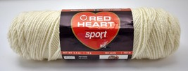 Red Heart Sport Lightweight Acrylic Yarn - 1 Skein Color Off White #0004 - $6.60