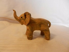 """Yellow Resin Elephant Figurine With Trunk Up For Good Luck 3.75"""" Tall - $29.70"""