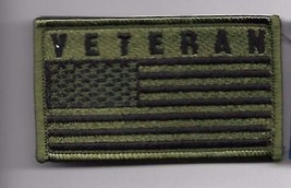 VETERAN OD FLAG  2 X 3  EMBROIDERED PATCH WITH HOOK LOOP - $15.33