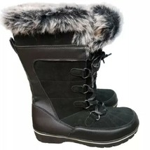 Universal Thread Women's Ruthie Black Suede Leather Winter Snow Winter Boots NWT