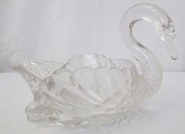 "Vtg Elegant Cambridge Glass 1940's SWAN Shaped Dish Candy Nut Bowl 8 1/2"" - $40.00"