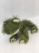 "Ganz Green Frog Stuffed Animal Pellet Bottom 10"" Sitting Spikey - $7.84"
