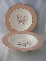 4 Homer Laughlin Eggshell Cavalier Barclay Rimmed Soup Bowls - $19.95