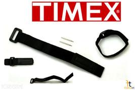 TIMEX Q7B735 Original 12-16mm Black Nylon Watch Band Strap w/ 2Pins - $12.45