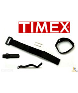 TIMEX Q7B735 Original 12-16mm Black Nylon Watch Band Strap w/ 2Pins - $12.45