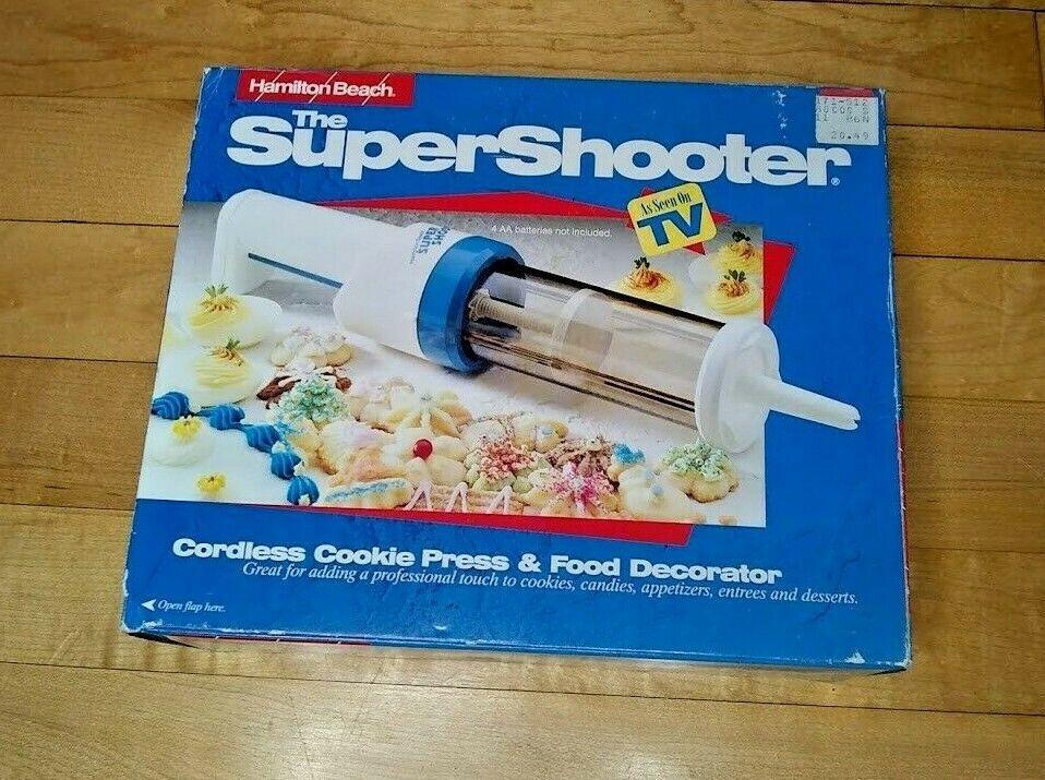 Vintage Super Shooter Cordless Cookie Press Model 80000 Hamilton Beach - $29.99