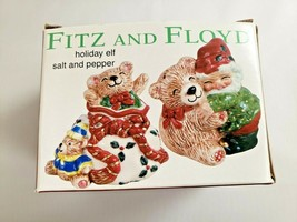Fitz and Floyd Holiday Elf Salt and Pepper Shakers 2063/286 New In Box - $18.70