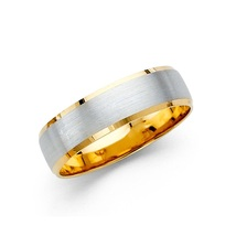 14K Two Tone Gold 5mm Wedding Band - $444.99+