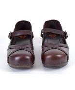 Dansko XP Mary Jane Brown Leather Nursing Clogs Shoes Occupational 41 US... - $44.54