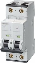 Supplementary Protector, Siemens 5SY62136  UL 1077 Rated 2 Pole Breaker 13A Max. - $37.86