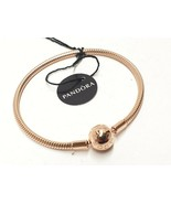 Pandora Rose ™ Smooth Clasp Bracelet 7.1in (18cm) ROSE GOLD 580728 with TAG - $61.74