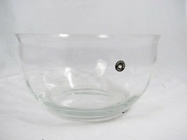 Colony Dominique Crystal Clear Salad Serving Bowl Swirl Optic Handmade 9... - $47.27