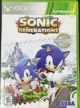 Sonic Generations XBOX 360 Action / Adventure (Video Game) Manual Included - $10.09