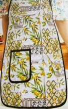 "Twill Fabric Kitchen Apron with pocket, 20"" x 30"", CITRUS FRUITS, LEMONS... - $15.83"