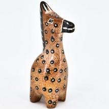 Crafts Caravan Hand Carved Soapstone Chestnut Brown Giraffe Figurine Made Kenya