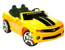 NPL Chevrolet Racing Camaro 12v yellow battery operated ride on toy car  - $399.00