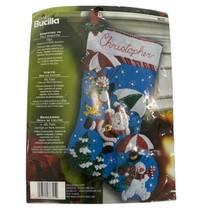 "Bucilla 86325 Felt Stocking Kit 18"" Dropping In Santa Snowman Penguin 2012 - $89.09"