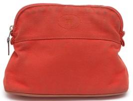HERMES Bolide Mini Bag Orange Travel Case Pouch Makeup - $216.13