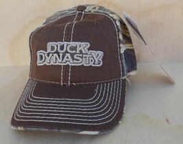 DUCK DYNASTY LOGO BROWN & REALTREE MAX-4  ADJUSTABLE BALL CAP ONE SIZE F... - $6.99