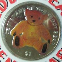 BVI TEDDY BEAR CENTENARY 2002 COLOR CUNI COIN UNC COA - $34.82