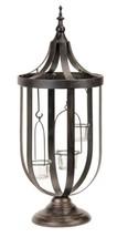 "22"" Decorative Antique-Style Bronze Birdcage Glass Votive Candle Holder - $54.44"