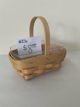 "2000 Longaberger Basket 6"" x 5 1/4""h with Plastic Liner - $8.00"