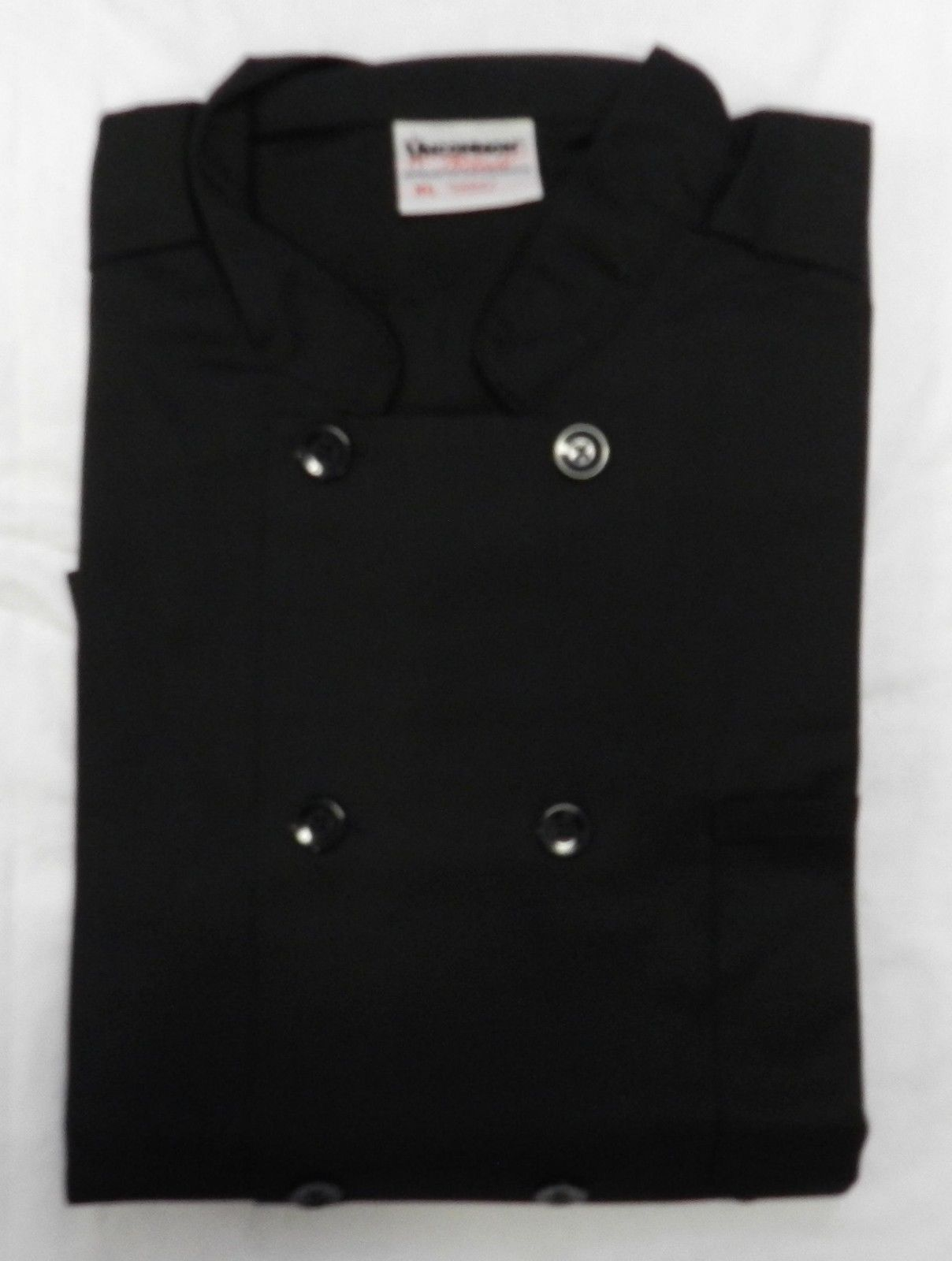 Chef Coat Jacket Black Uncommon Threads 402 Restaurant Uniform XL New