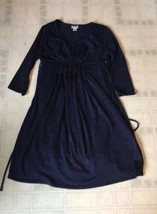 Motherhood Maternity Dress Sz Small Blue Marled Knit 3/4 Sleeve - $25.92