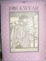 Pattern 102 French Cheesemaker's Smock Folkwear All Sizes - $15.95